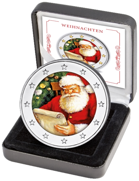 2 Euro Germany - BU - Christmas Coin I in color