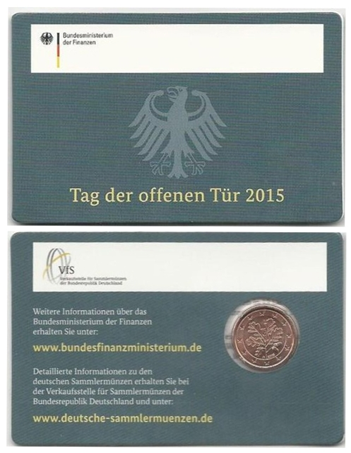 1 Cent Germany 2015 A - Coincard BU