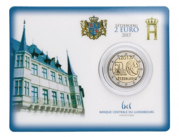 2 Euro Luxembourg 2017 - Coincard BU - 50 Years Voluntary Army