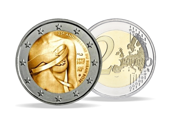 2 Euro France 2017 - UNC - Breast cancer