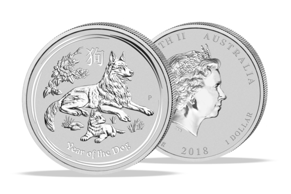 Year of the Dog 2018 - 1 Oz. Silver .999