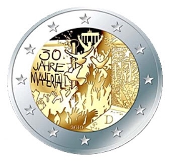 2 Euro Germany 2019 F - UNC - 30 years fall of the Berlin Wall