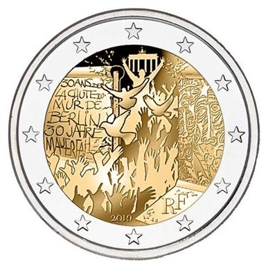 2 Euro France 2019 - UNC - 30 years fall of the Berlin Wall